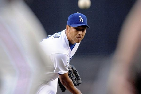 Hiroki Kuroda, en una imagen lanzando para los Dodgers en el 2008.