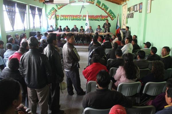 Asamblea de la Junta Directiva de los 48 cantones, Totonicapán. (Foto Prensa Libre: Édgar Domínguez)