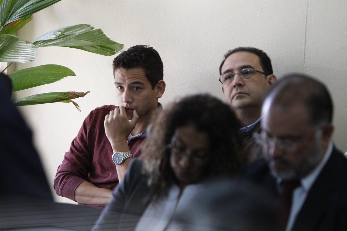José Manuel Morales y Samuel Morales durante una audiencia. Foto Prensa Libre: Hemeroteca PL.