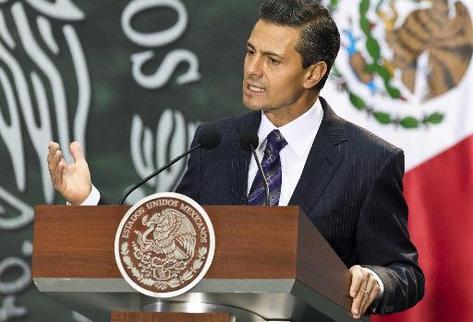 Enrique Peña Nieto, presidente de México. (Foto Prensa Libre: AFP).