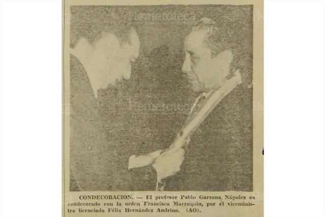 Docentes galardonados el 24 de junio de 1970. (Foto: Hemeroteca PL)