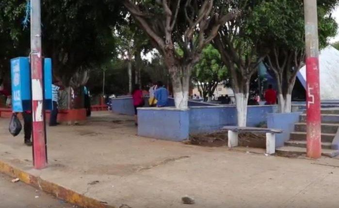 Parque municipal de Moyuta, Jutiapa. Foto Prensa Libre: Guatevisión.