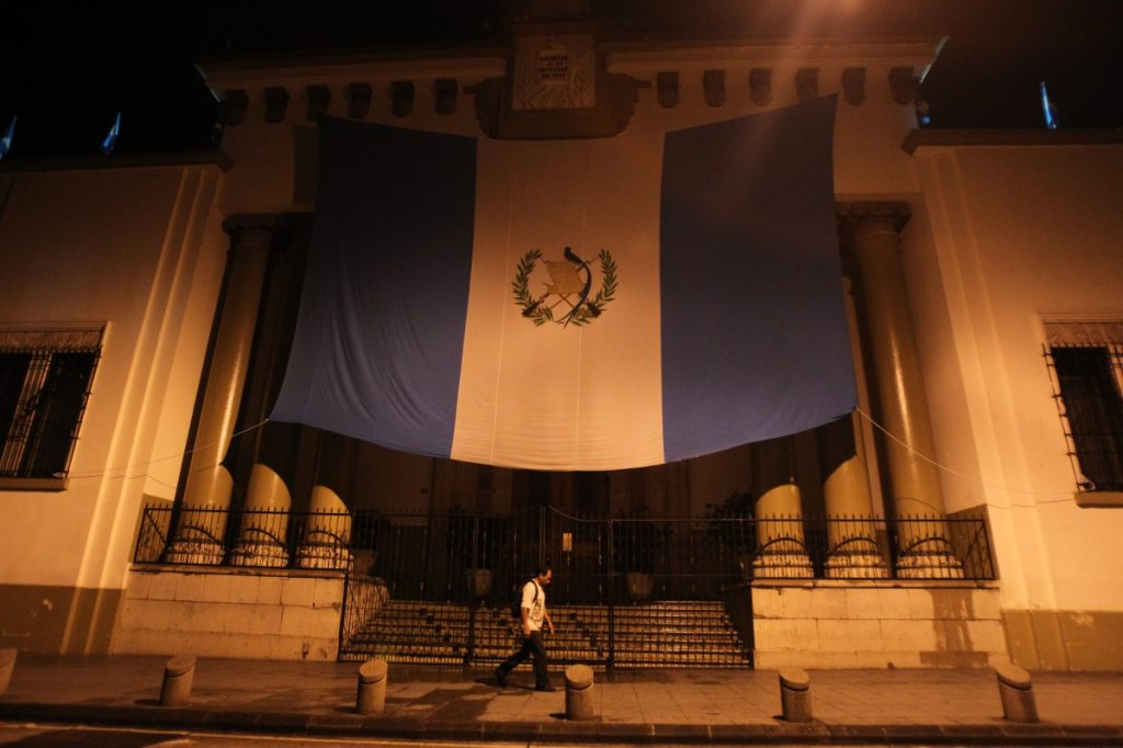 En la entrada a la Casa Presidencial no había seguridad.