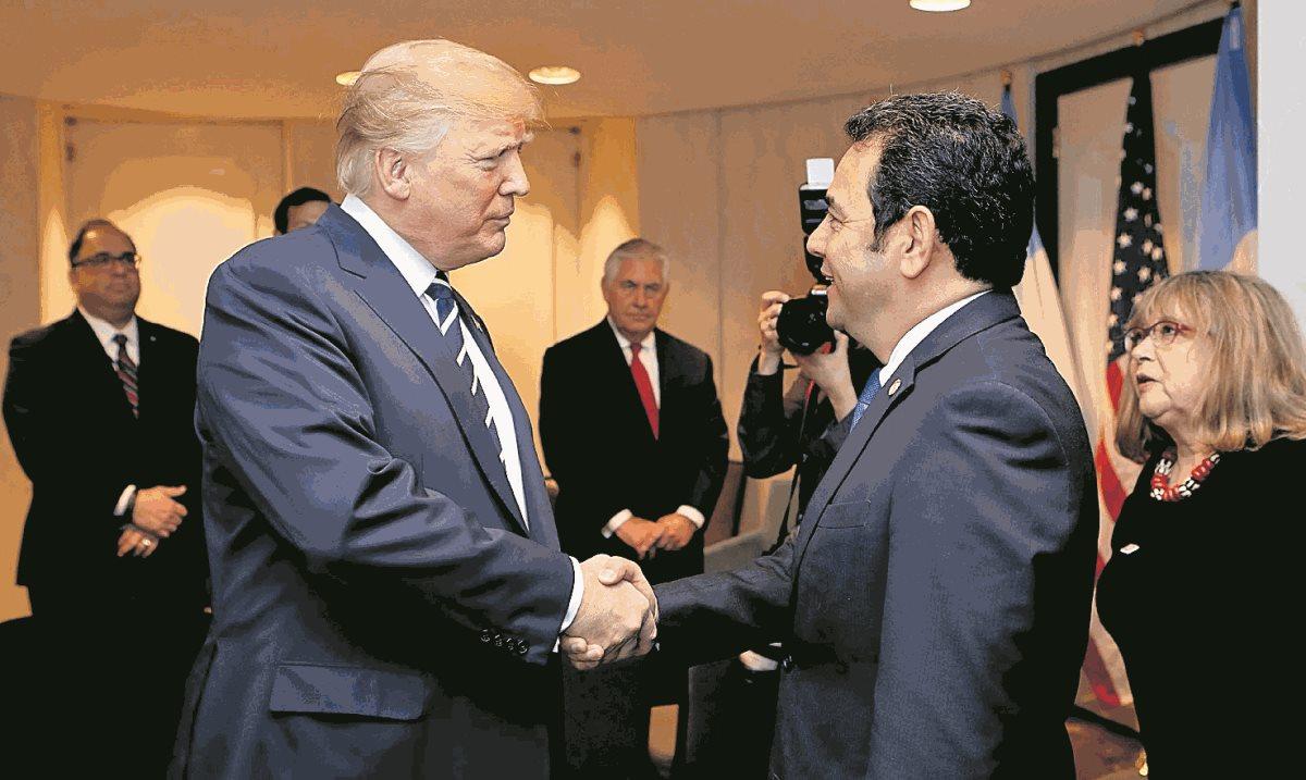 El gobierno de Jimmy Morales ha sido cercano a la administración de Donald Trump, sobre todo en temas geopolíticos, como el apoyo a Israel. (Foto Prensa Libre: Hemeroteca PL)