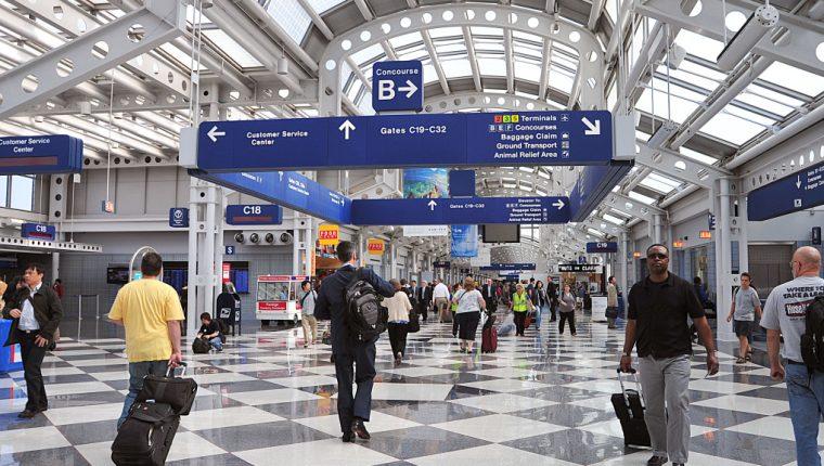 El aeropuerto O'Hare, de Chicago, es uno de los más transitados por turistas. (Foto: Hemeroteca PL)