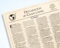 La Declaración de Chapultepec fue formulado en 1994 y complementado en 1998, a favor de la libertad de prensa. (Foto Prensa Libre: Hemeroteca PL)