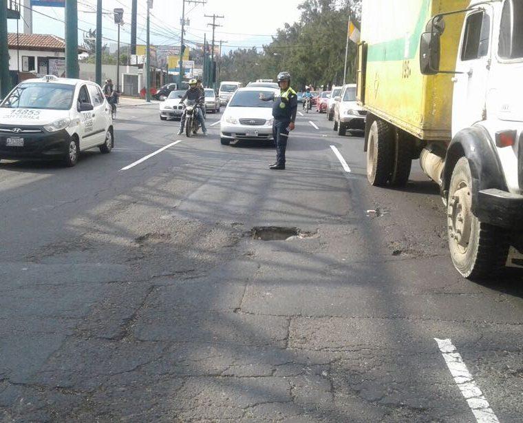 Hoy por la tarde podrían comenzar los trabajos en ese tramo. (Foto Prensa Libre: PMT)