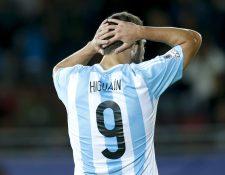Pipita Higuaín fue uno de los jugadores más criticados después del Mundial de Brasil 2014. (Foto Prensa Libre: Hemeroteca PL)