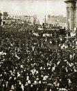 Vista de la ceremonia de Coronación de la Virgen del Rosario el 28 de enero de 1934. (Foto: Hemeroteca PL)