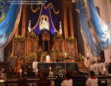 Durante la semana se han llevado a cabo distintas actividades en honor de la Virgen. (Foto Prensa Libre: Tomada de Facebokk Inmaculada Concepción de Francisco, Virgen de los Reyes).
