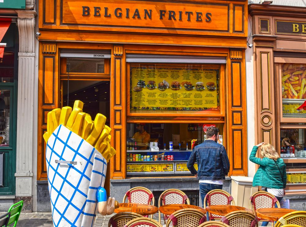 Las frituras son un emblema de Bruselas.