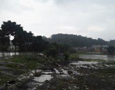 Terreno en el que se construirá el instituto tecnológico municipal. (Foto Prensa Libre: Edwin Pitán)