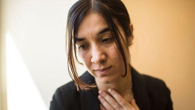 """Nadia Murad estuvo secuestrada por combatientes de Estado Islámico durante tres meses, en los que sufrió situaciones """"inimaginables"""". GETTY IMAGES"""