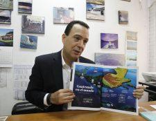 Gabriel Biguria, presidente de mesa de marca país con la revista Guatemala Beyond Expectations. (Foto Prensa Libre: Paulo Raquec)