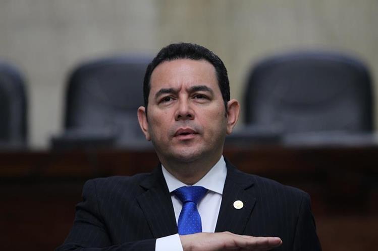 El presidente Jimmy Morales podría enfrentar un nuevo proceso de antejuicio presentado por el Ministerio Público por el caso de financiamiento electoral del partido FCN-Nación. (Foto HemerotecaPL)