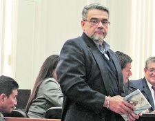 El diputado Manuel Barquín se encuentra en el Hospital Roosevelt; fue inducido al coma debido a la fibrosis pulmonar que padece. (Foto Prensa Libre: Hemeroteca PL)