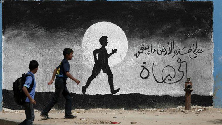 El EI reivindica la ideología yihadista para atraer a jóvenes sin esperanza en Gaza, donde el índice de desempleo roza el 45%. (Foto Prensa Libre: AFP).