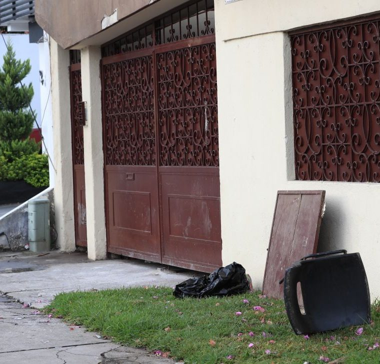 Los menores causaron algunos daños a las instalaciones del anexo. (Foto Prensa Libre: Estuardo Paredes)