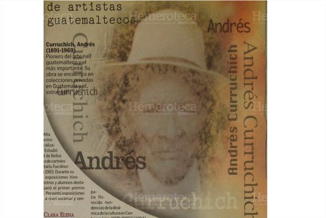 Andrés Curruchiche, uno de los máximos exponentes de la pintura primitivista de San Juan Comalapa, Chimaltenango. (Foto: Hemeroteca PL)