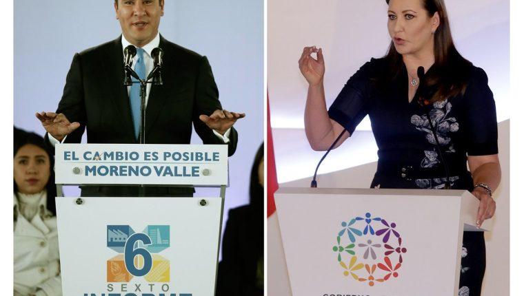 El exgobernador de Puebla, México, Rafael Moreno Valle y la actual gobernadora del mismo estado, Martha Érika Alonso, su esposa, murieron en un accidente aéreo. (Foto Prensa Libre: EFE)