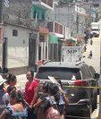El hecho armado se registró en el interior del Juzgado de Paz en San Andrés Itzapa. (Foto Prensa Libre: Víctor Chamalé)