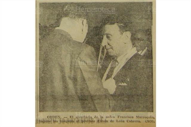 La orden Francisco Marroquín fue creada en 1963. (Foto: Hemeroteca PL)