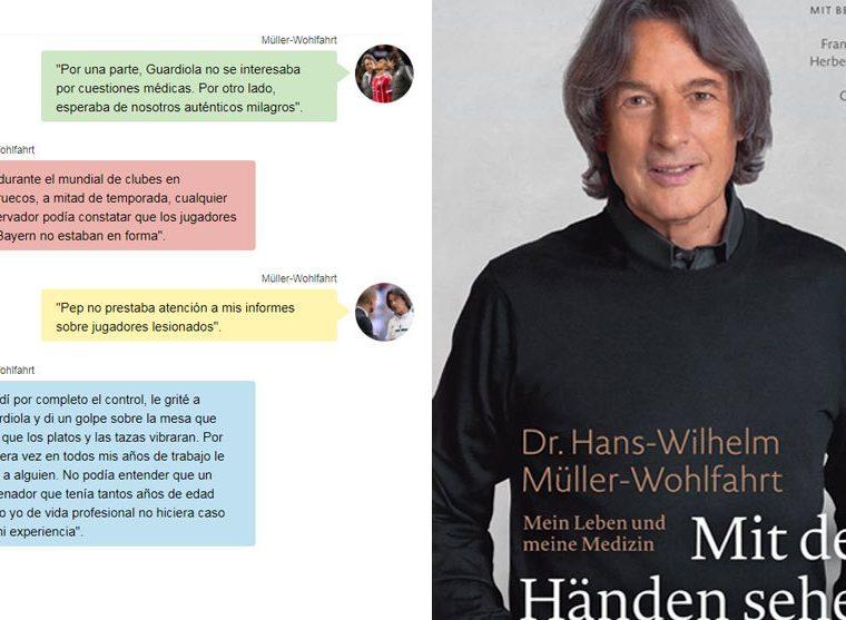 La presentación del libro del médico del Bayern de Múnich.