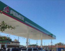 La primera estación de servicio de Pemex en EE. UU. (Foto Prensa Libre: EFE)