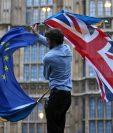 Los británicos comienzan la separación de la Unión Europea. Protesta en contra de medida en Londres. (Foto Prensa Libre: AFP)