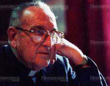 Juan José Gerardi Conedera fue asesinado el 26 de abril de 1998, cuando ingresaba a su vivienda, contigua a la parroquia de San Sebastián, zona 1.(Foto Prensa Libre: Hemeroteca PL)