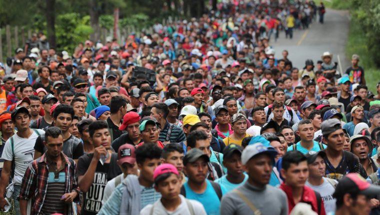 Una guatemalteca que formaba parte de la caravana de migrantes que va Estados Unidos dio a luz en México. (Foto Prensa Libre: Hemeroteca PL)