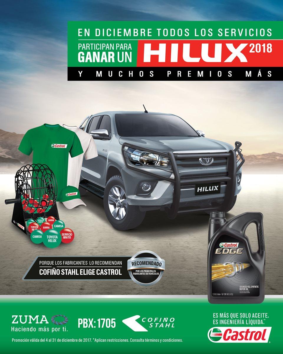 Gana un Hilux 2018 este diciembre