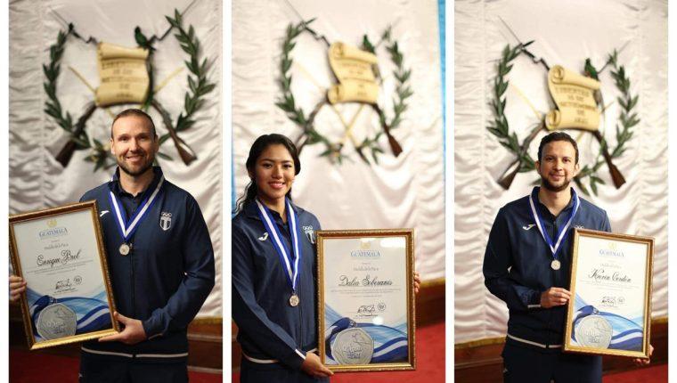 Enrique Brol, Dalia Soberanis y Kevin Cordón. (Foto Prensa Libre: Ministerio de Cultura y Deportes)