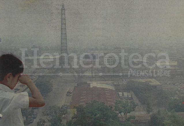 1998: emergencia ambiental por erupción y lluvia de arena