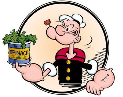 Popeye aumentó la venta de espinacas en cerca de un 30% en Estados Unidos. ALAMY