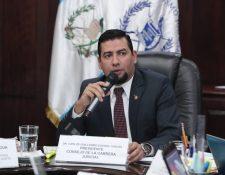 El presidente del CCJ, el Juez Carlos Guerra, confirmó que se realizará un nuevo proceso de selección. (Foto Prensa Libre: Juan Diego González)