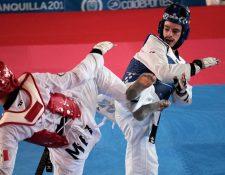 Andrés Zelaya peleó por la medalla de oro de -68 kg en la rama masculina del taekwondo en Barranquilla 2018. (Foto Prensa Libre: COG)