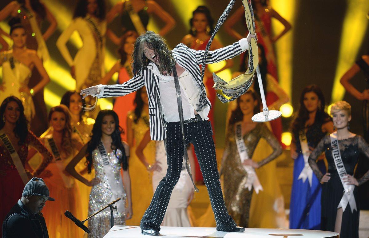 Steven Tyler vocalista de la banda Aerosmith es uno de los ídolos de la música mundial. (Foto Prensa Libre: AP)