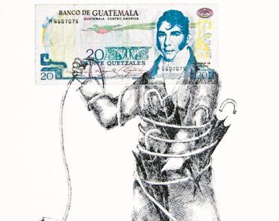Cada una de las piezas representa el poder a través del dinero. (Foto Prensa Libre: Cortesía)