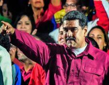 Nicolás Maduro agradeció a los venezolanos haberlo reelecto como presidente hasta el 2025. (Foto Prensa Libre: AFP)