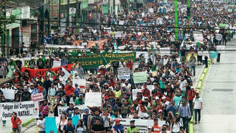 Las manifestaciones continuarán este miércoles 20 de mayo y el sábado 30. (Foto Prensa Libre: Hemeroteca PL)