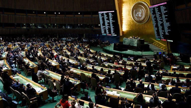 La ONU rechazó por mayoría decisión de la ONU de mover su embajada a Jerusalén. (Foto Prensa Libre: EFE)