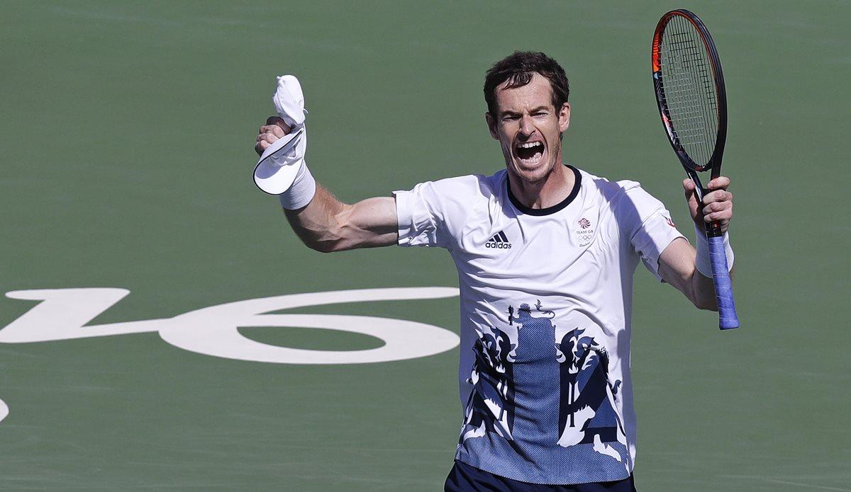 Murray festeja luego de derrotar a Nishikori este sábado. (Foto Prensa Libre: AP)