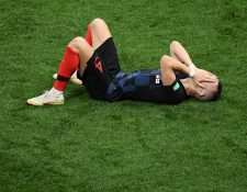 Ivan Perisic es la gran duda en la final del Mundial de Rusia 2018. (Foto Prensa Libre: AFP)