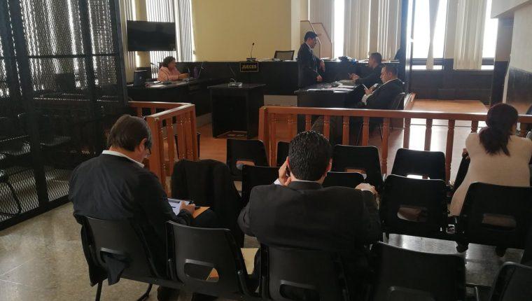 La audiencia se realizó con la ausencia de los procesados debido a que están hospitalizados. (Foto Prensa Libre: Erick Ávila)