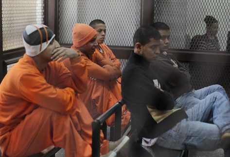 Nueve supuestos   Zetas enfrentan juicio por la matanza de 27 campesinos en la finca Los Cocos, La Libertad, Petén, ocurrida el 14 de mayo del 2011.