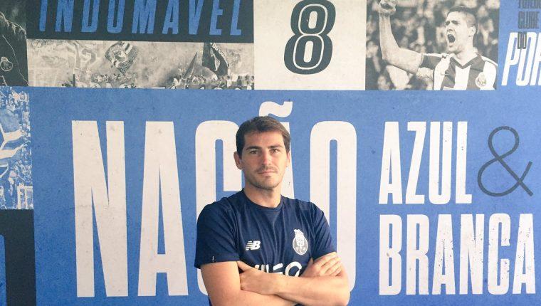 Iker Casillas continuará en el Porto por una temporada más. (Foto Prensa Libre: Twitter @IkerCasillas)