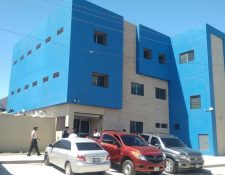 Edificio policial inaugurado en San Rafael Las Flores, Santa Rosa. (Foto Prensa Libre: Oswaldo Cardona).