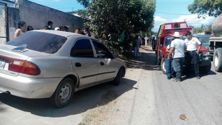 Lugar donde se registró el ataque armado en la cabecera de Zacapa. (Foto Prensa Libre: Víctor Gómez).