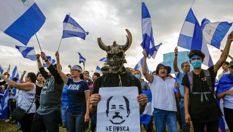 Las protestas en Nicaragua cumplieron 29 días y hoy se realizaron en marco del diálogo nacional. (Foto Prensa Libre: AFP)